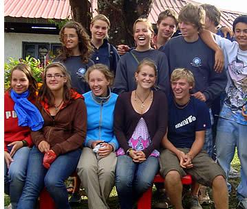 Studenter från en skola i Tyskland som kommer till vår skola varje år. Fördelarna för studenter som åker med sin skola utomlands är helt enkelt fantastiskt